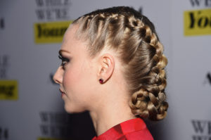 french braided buns