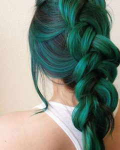 greenish teal braid