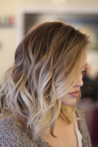 layered blonde sombre