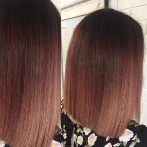 light mahogany ombre