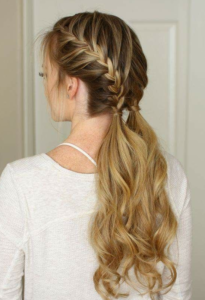 low french braid pigtails