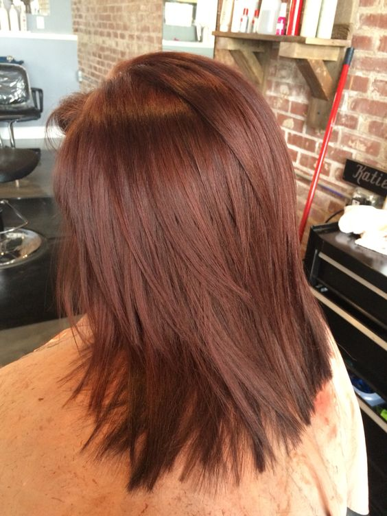 36 Intensely Cool Red Mahogany Hair Color Ideas Part 7
