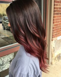 medium mahogany ombre
