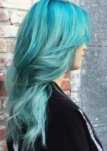 mermaid teal hair