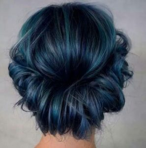 midnight blue with teal highlights