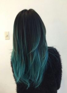 muted teal ombre