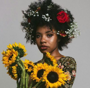 natural curls flowers
