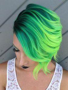 neon green color melt