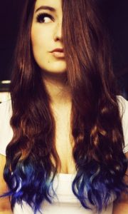 rockabilly blue dip dye