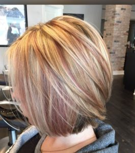 rose gold peekaboo bob