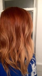 subtle red blonde ombre