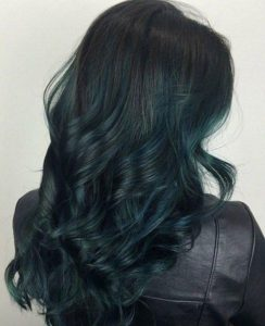 subtle teal ombre