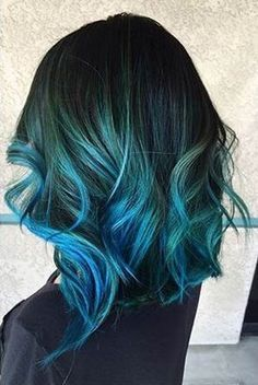 30 Teal Hair Dye Shades and Looks with Tips for Going Teal Ombre Hair Blue And Green
