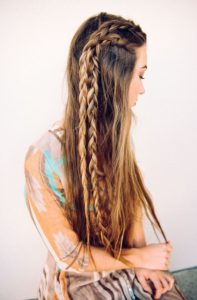 twin side braids