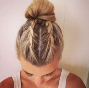 two french braid bun