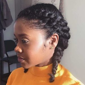 two french braids natural hair