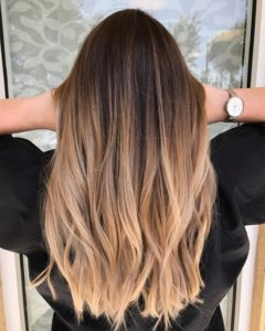 warm blonde color melt