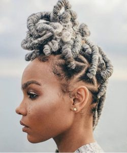 white blonde faux locs