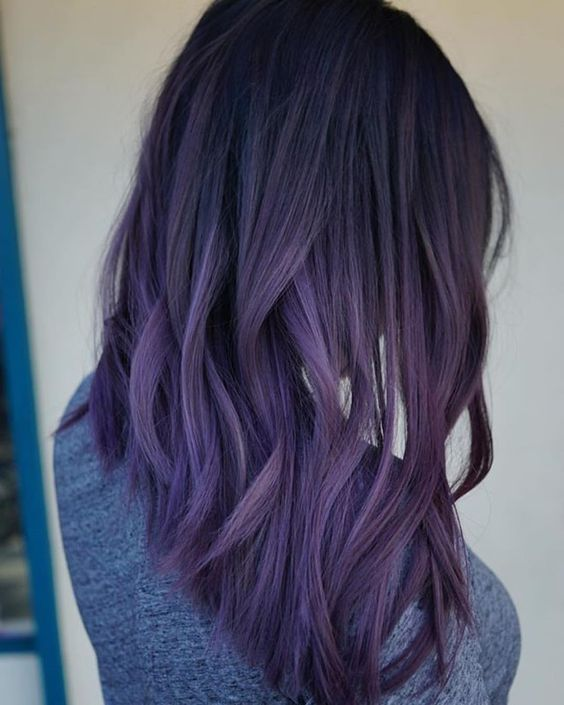 35 bold and provocative dark purple hair color ideas for Purple mauve color