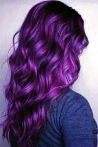 Dark purple with pink highlights