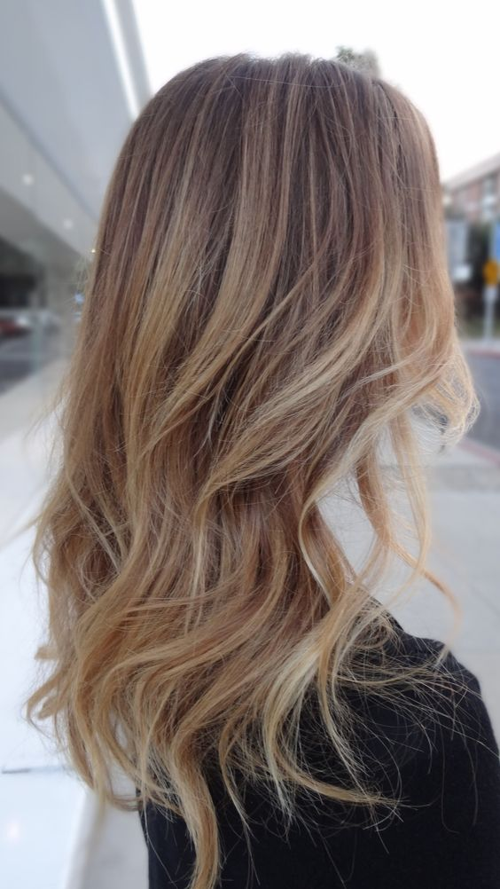 Ombre Hair Brown To Caramel To Blonde Medium Length 35 Sophisticated &...