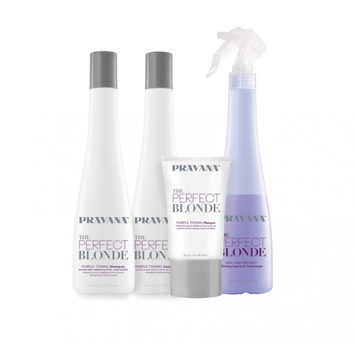 PRAVANA THE PERFECT BLONDE Purple Toning Masque and Seal & Protect Leave-in Conditioner