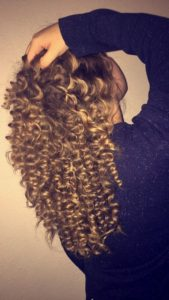 bouncy pencil curls