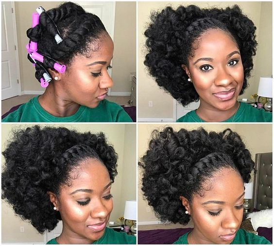 Natural Hair Curls Without Heat
