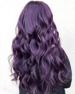 dark silvery purple