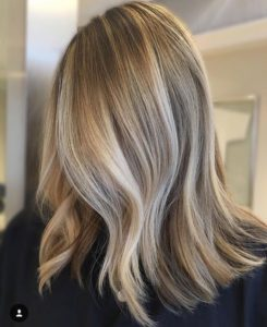 dimensional sandy blonde balayage