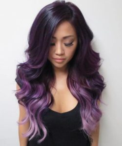 dramatic purple color melt