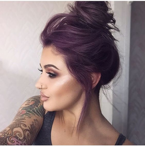 25 Best Ideas About Purple Black Bedroom On Pinterest: 35 Bold And Provocative Dark Purple Hair Color Ideas