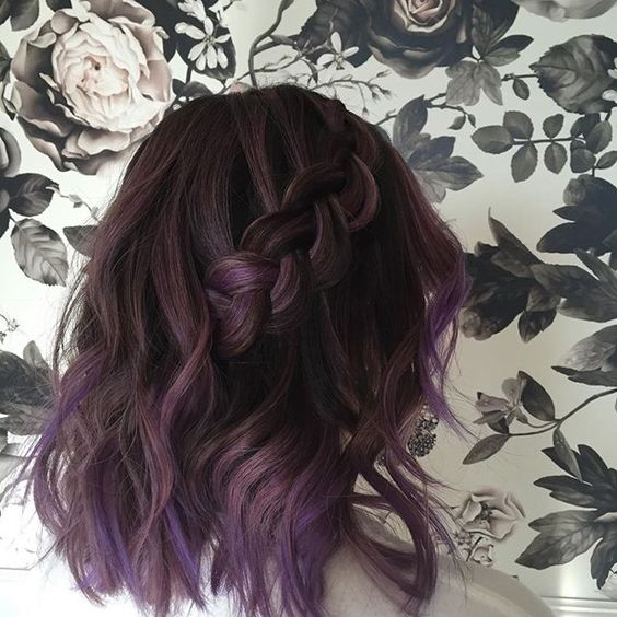 35 Bold And Provocative Dark Purple Hair Color Ideas