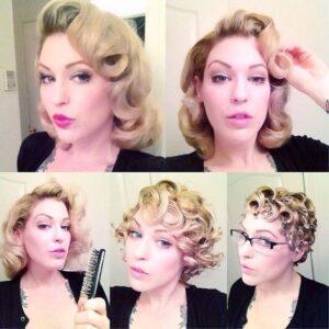 glamorous pin curls