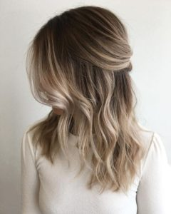 high contrast sandy ombre