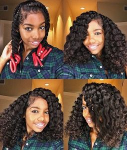 long hair twist out