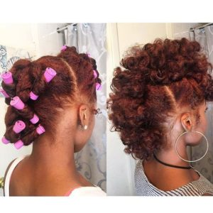 perm rods faux hawk