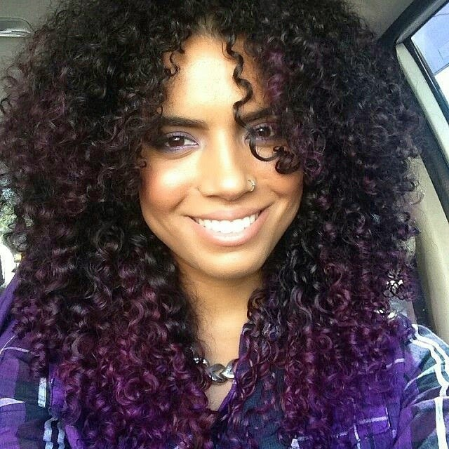 Ombre Hair Coloring Ideas For Natural Hair Curly Hair: 35 Bold And Provocative Dark Purple Hair Color Ideas