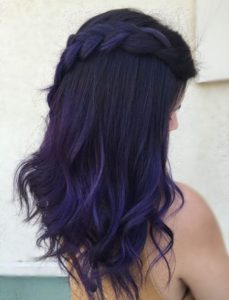 purple on purpel balayage
