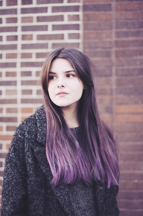 purple over brown hair