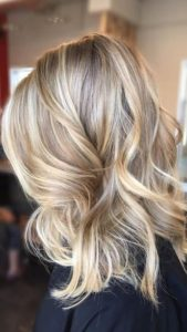 sandy blonde with buttery highlights