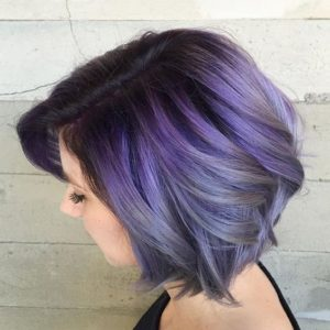 smoky purple color melt