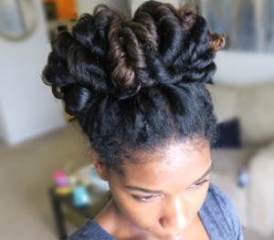 spiral curls bun