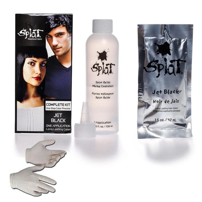 splat jet black hair dye