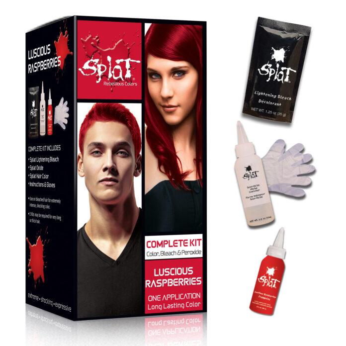 splat luscious raspberries red hair dye