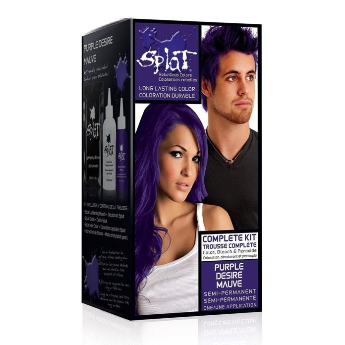 splat purple desire hair dye