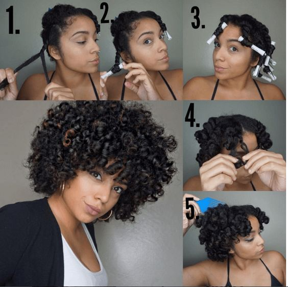 How To Curl Short Black Natural Hair Without Heat