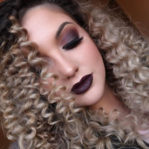 vampy blonde curls