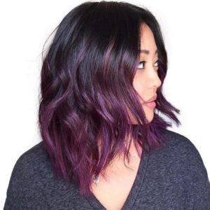 warm purple ombre