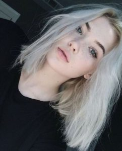 white blonde hair